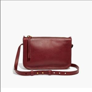 Madewell simple crossbody bad in cabarnet NWT